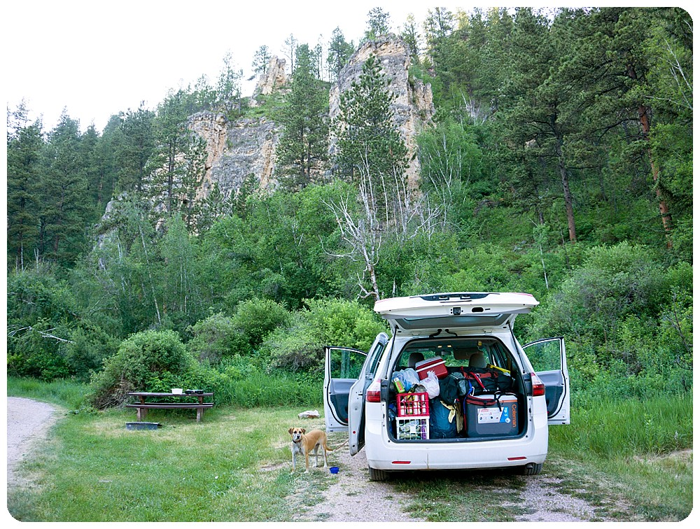 Camping in Spearfish Canyon, South Dakota