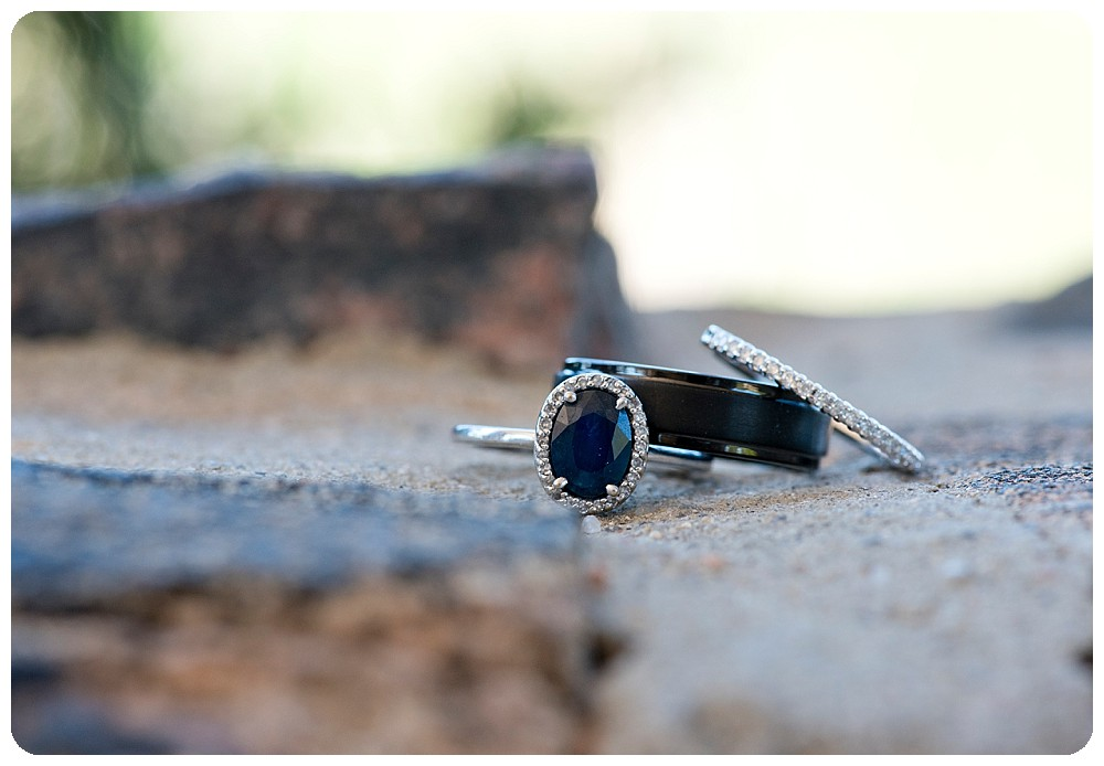 Wedding Rings that are black and white gold