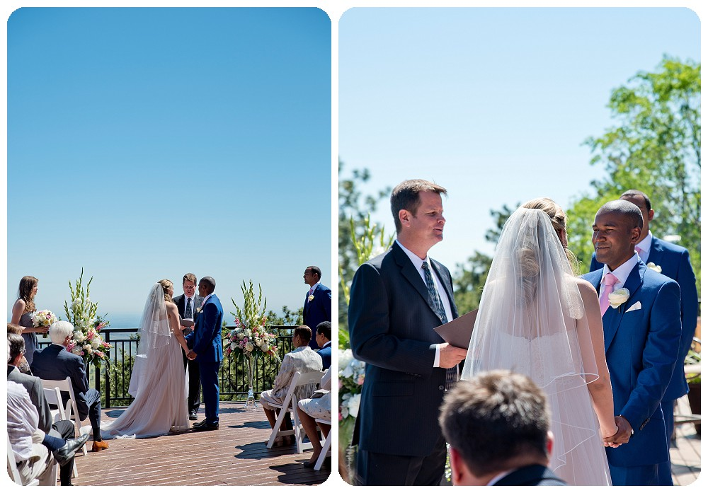 Wedding ceremony at the Mount Vernon Country Club