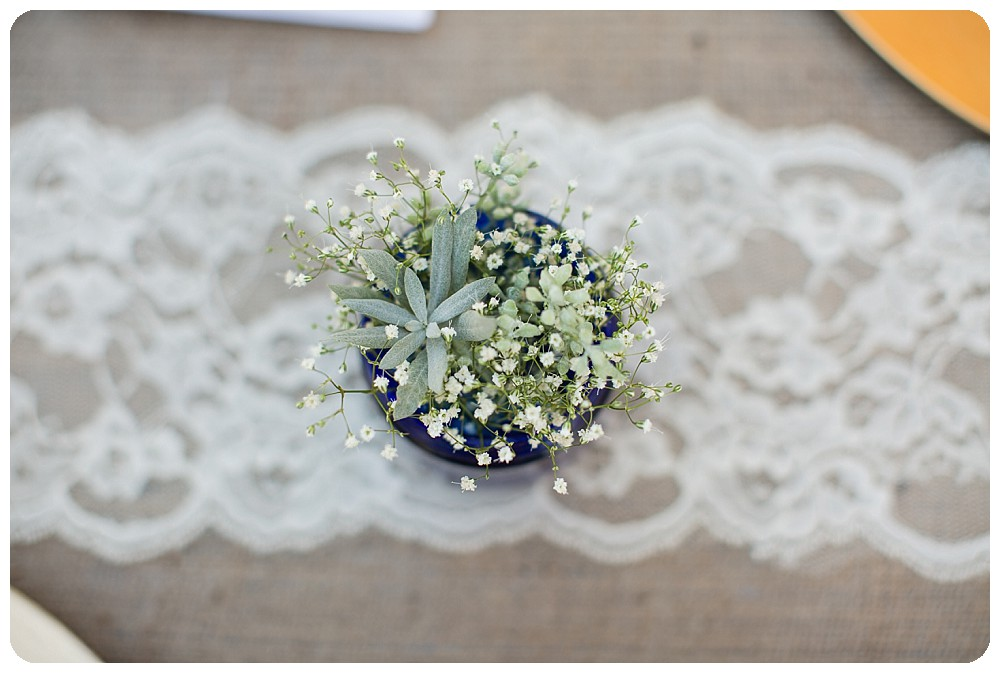 Succulent wedding decorations in Nederland, Colorado