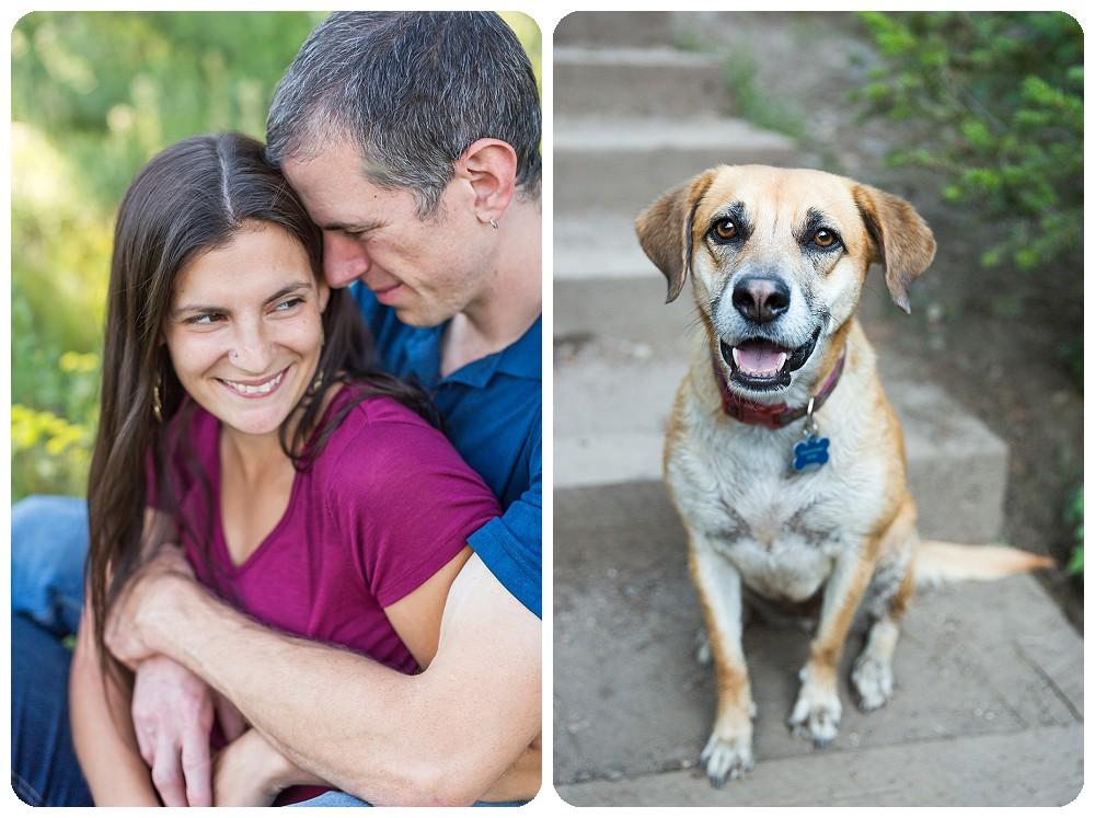Family Photos by Ashley McKenzie Photography with Black Mouth Cur Dog