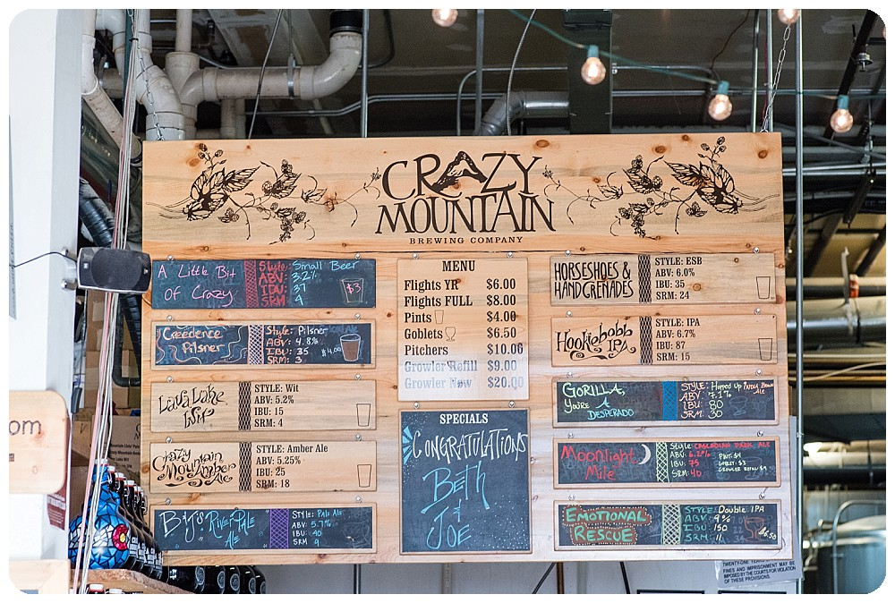 Crazy Mountain Brewing Beer Selection