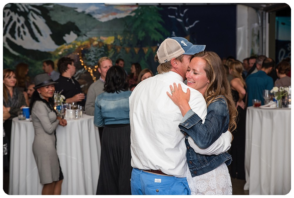 First Dance at Crazy Mountain Brewing Wedding