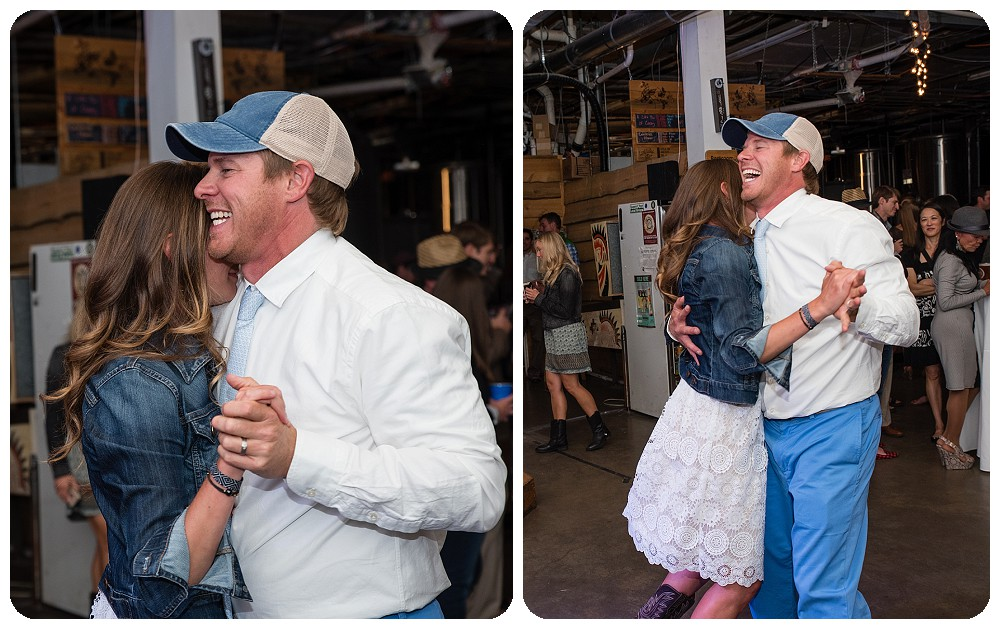First Dance at Crazy Mountain Brewing Wedding in Edward Colorado