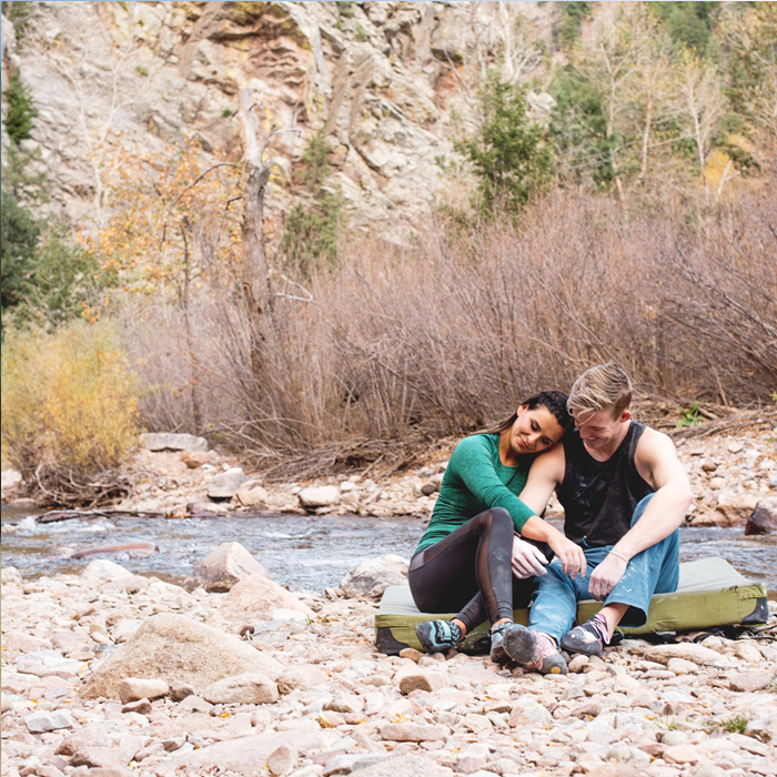 Rock Climbing Couples Session in Eldorado Canyon