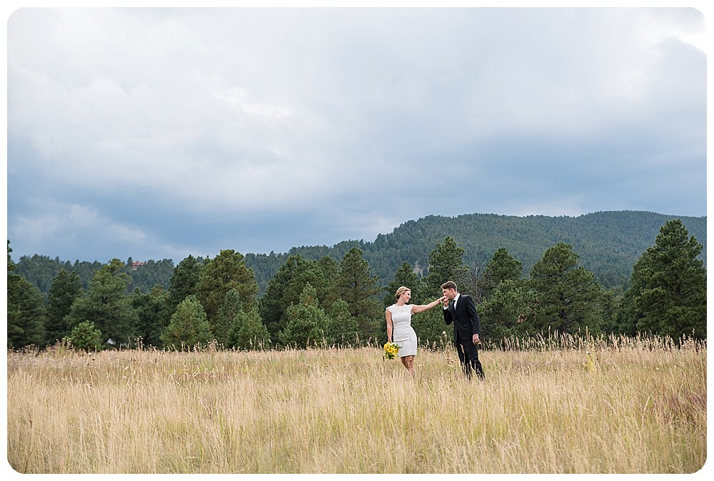 Colorado Mountain Wedding Photos in Elk Meadow Open Space in Evergreen