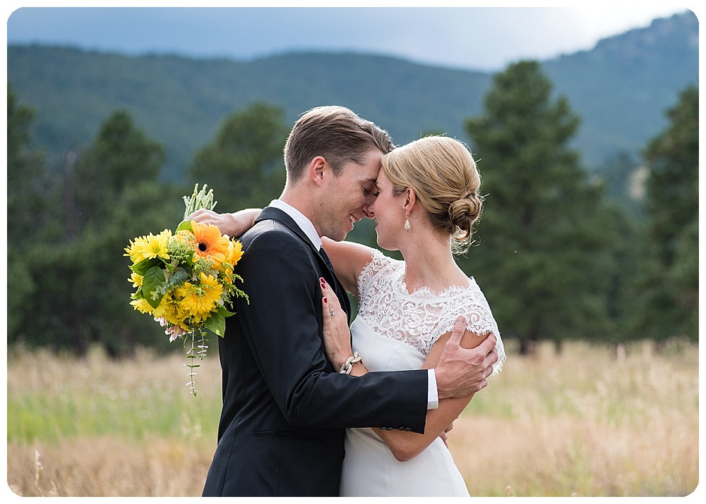 Bride and Groom at Elk Meadow Open Space