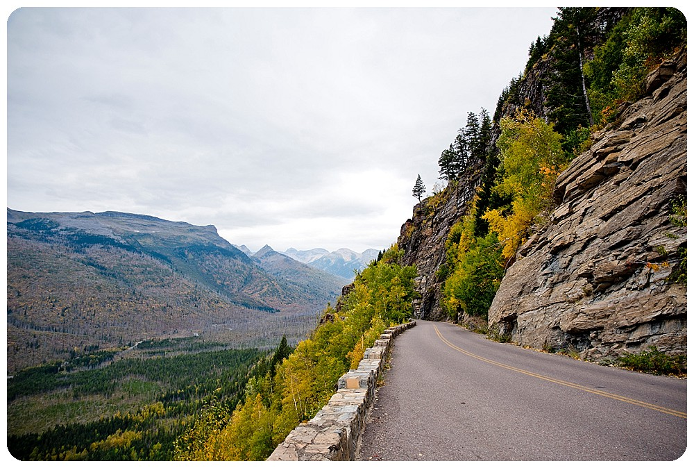 Road to the sun at Glacier NP in Montana
