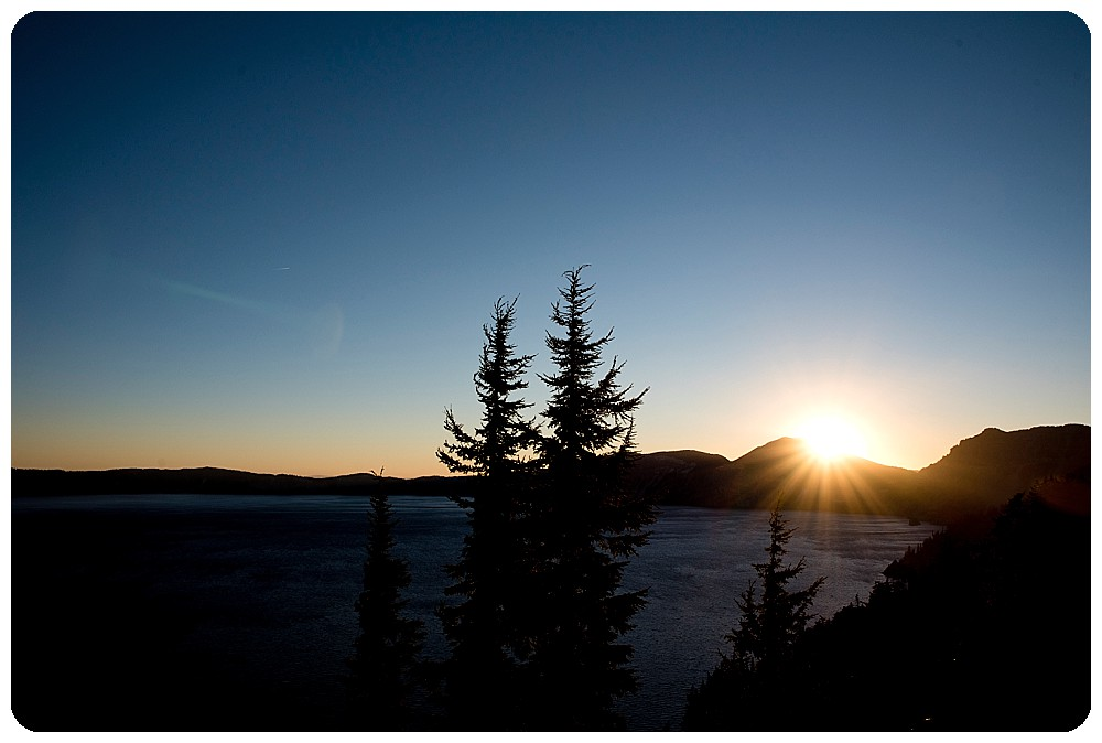 Crater Lake National Park at Sunrise by Destination Wedding Photographer, Rayna McGinnis