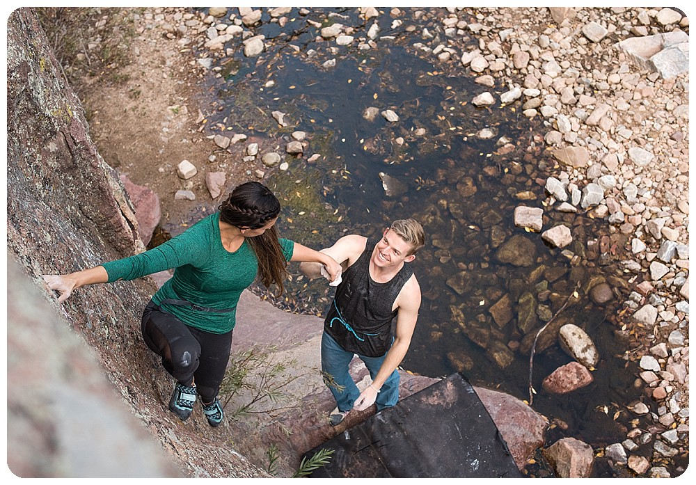 Couples Session at Eldorado Canyon State Park
