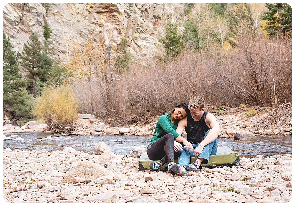 Bouldering Couples Session at Eldorado Canyon