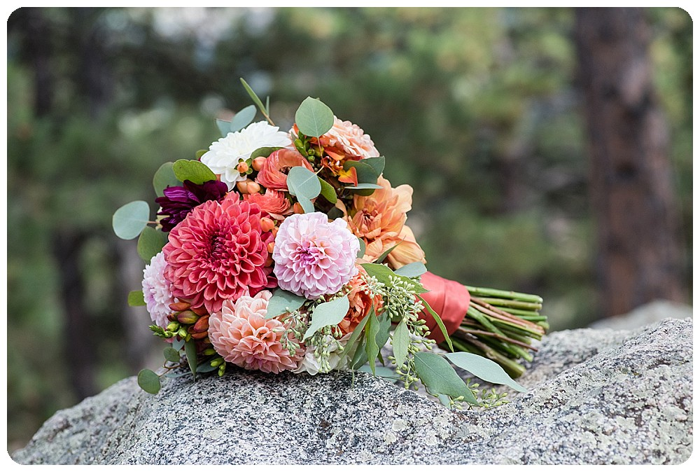 Wedding bouquet by Pink Posey Designs