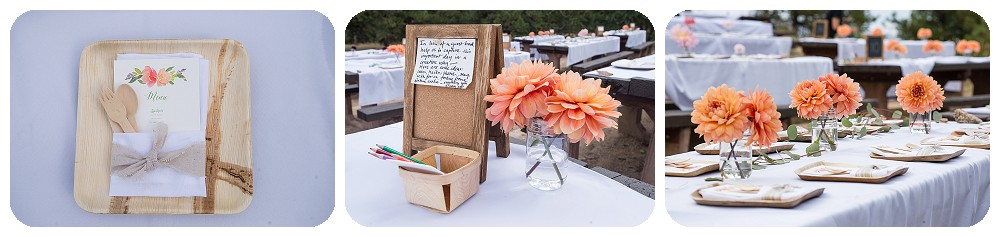 Reception details at Sunrise Amphitheater Wedding