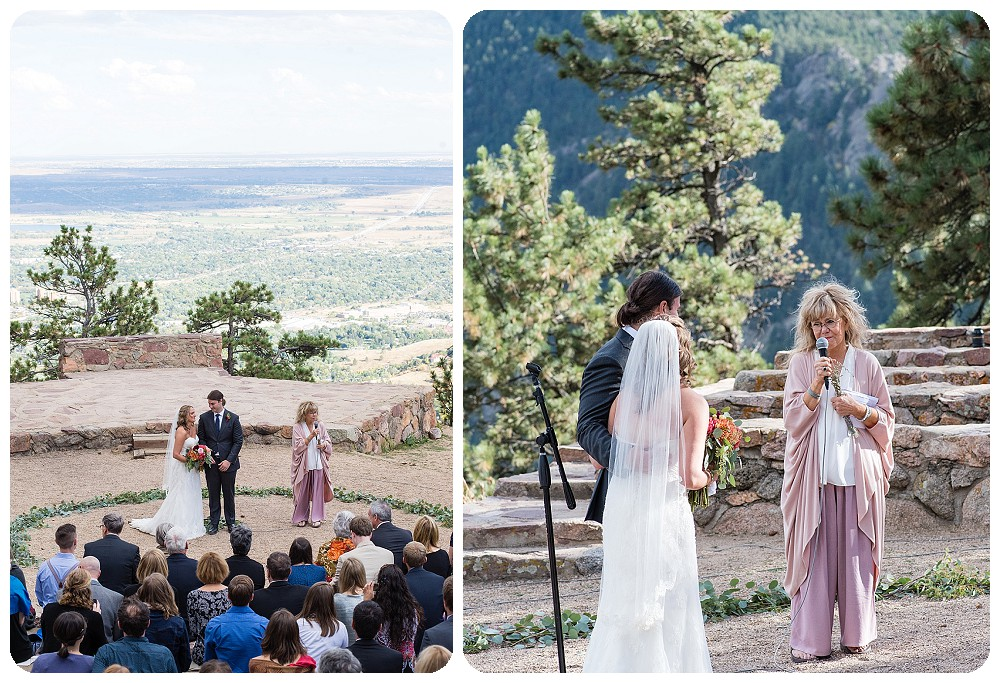 Sunrise Amphitheater Wedding on Flagstaff Mountain