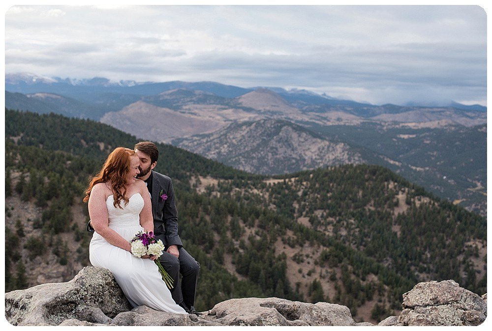 flagstaff mountain elopement by boulder elopement photographer, rayna mcginnis