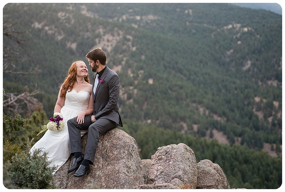 Flagstaff Mountain Elopement Photos