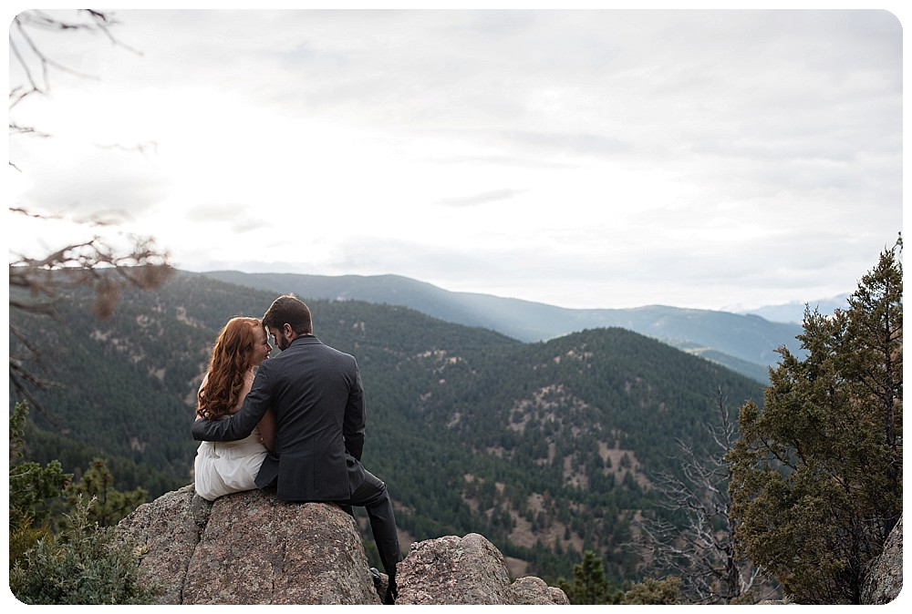 flagstaff mountain elopement by Rayna McGinnis