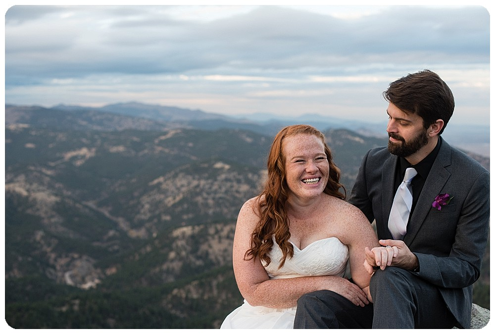 flagstaff mountain elopement in Boulder, Colorado