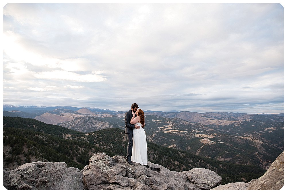 Elopement Photos at Lost Gulch Overlook in Boulder, Colorado