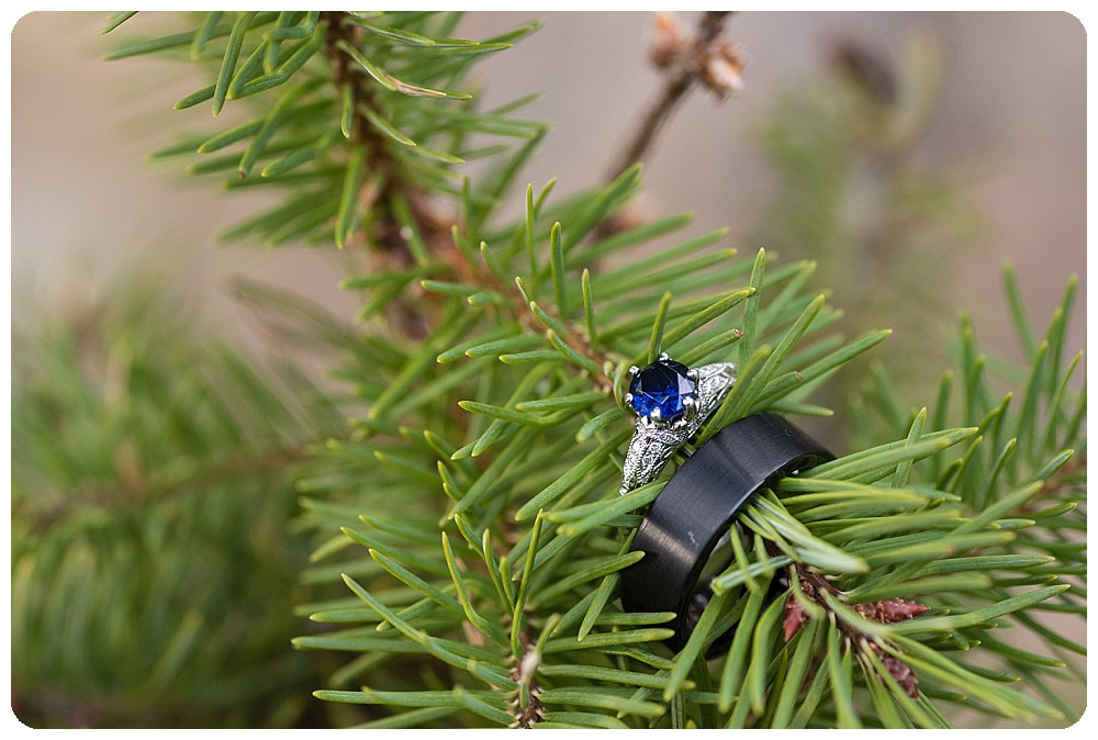 Wedding rings form Boulder Elopement