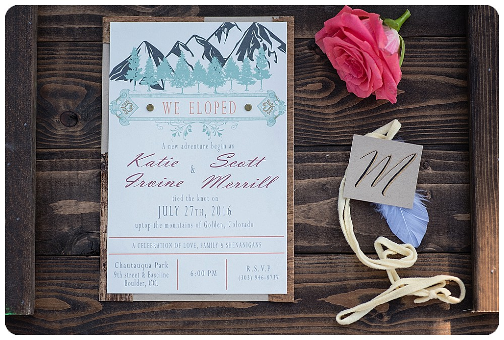 Elopement Announcement for a Lookout Mountain Elopement