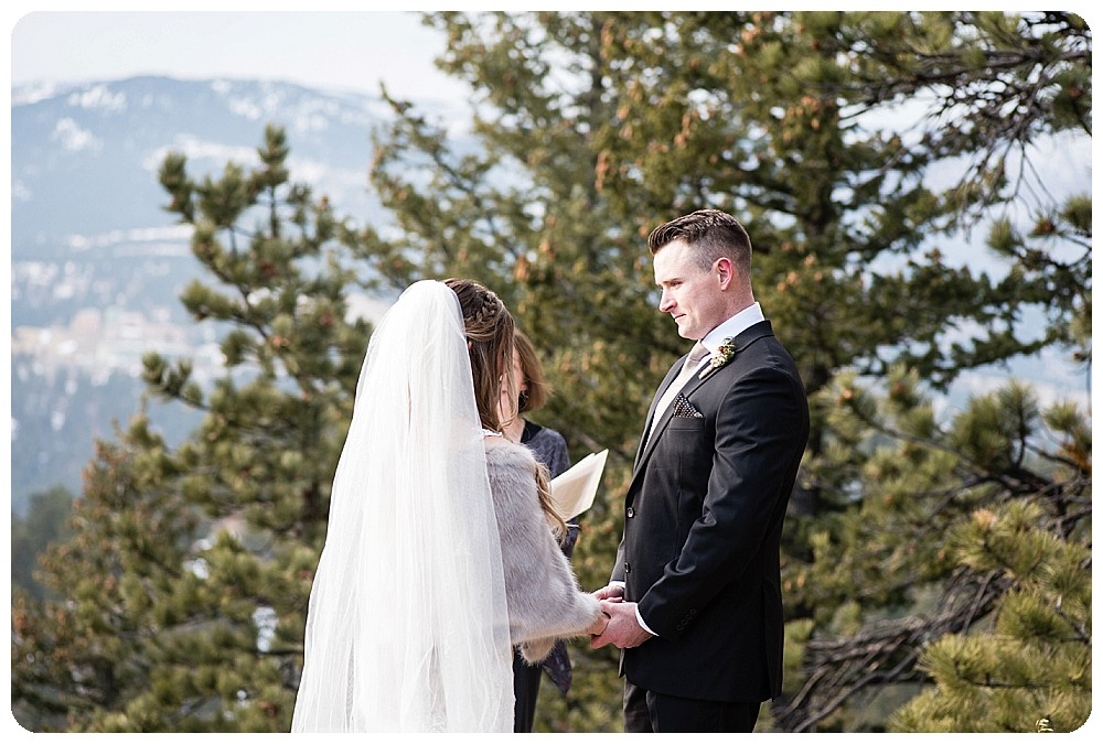 Colorado Winter Elopement on Flagstaff Mountain