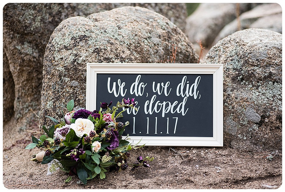 Colorado Winter Elopement details