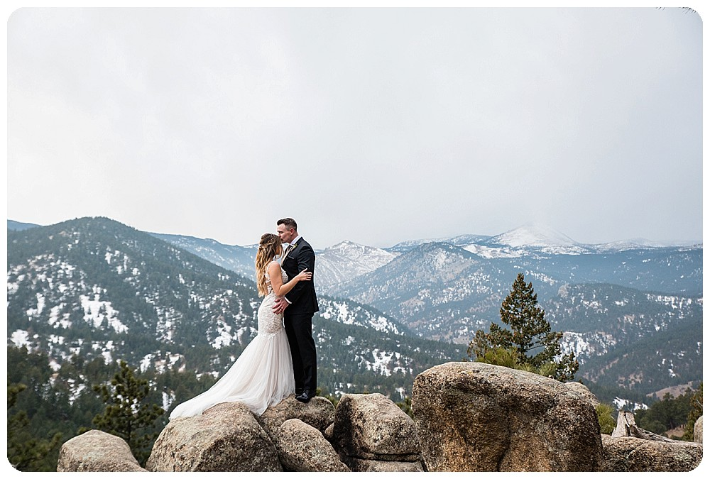 Colorado Winter Elopement with Continental Divide View