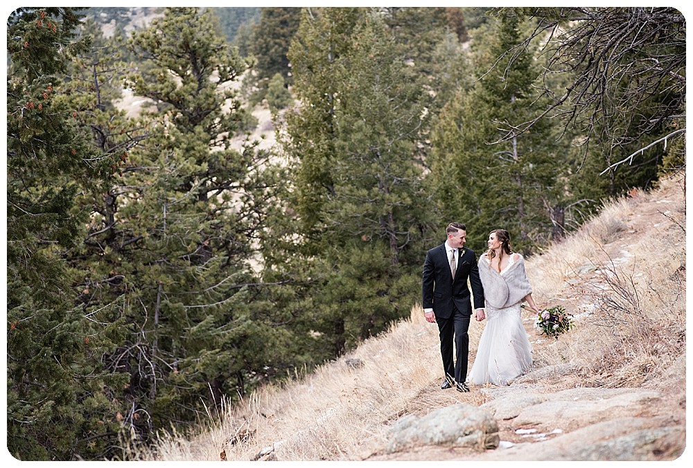 Wedding Couple at Colorado Winter Elopement