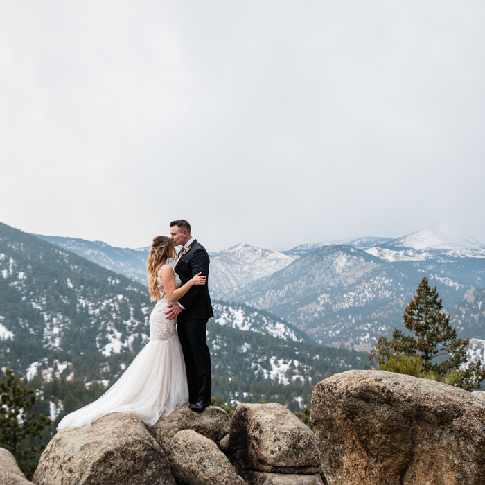 colorado elopement on Flagstaff Mountain