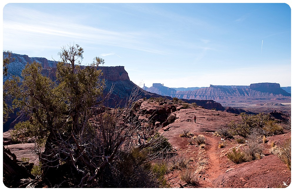 View from the Fisher Towers Trail in Moab, Utah.
