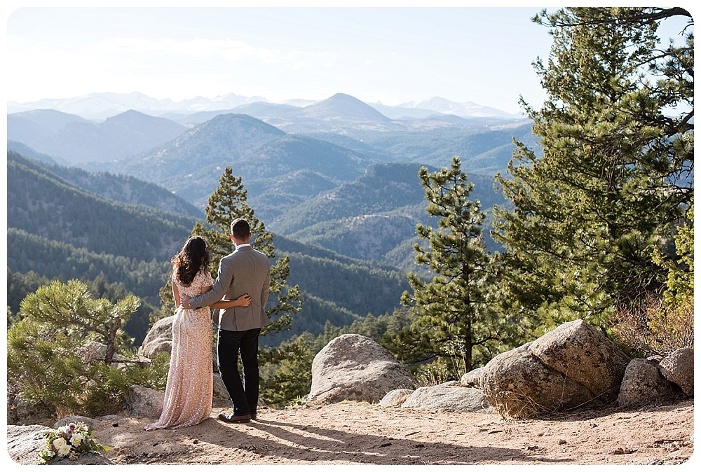 Destination Elopement in Colorado, Boulder foothills