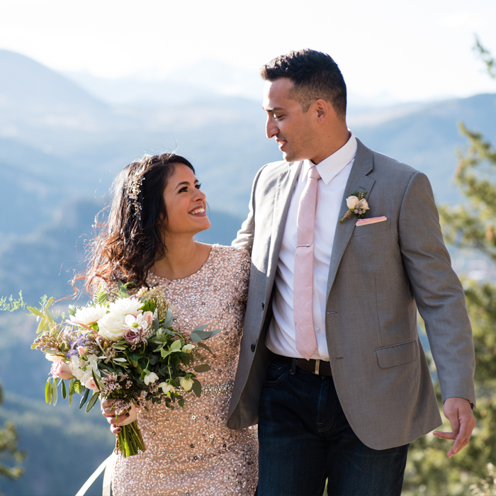 Destination Elopement in Colorado - Boulder Foothills