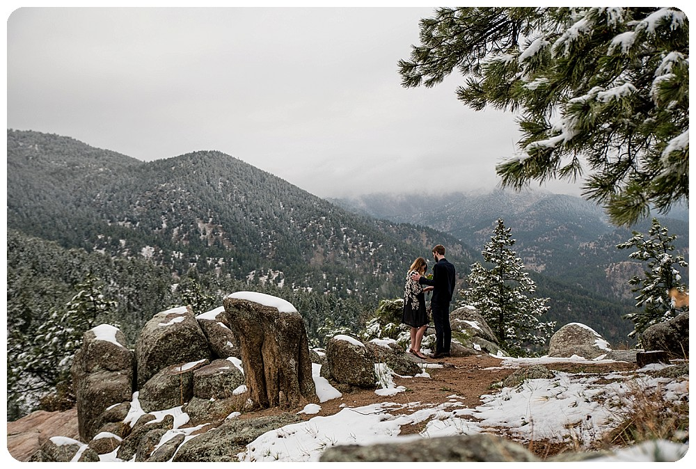 Colorado Elopement Ceremony on Flagstaff Mountain