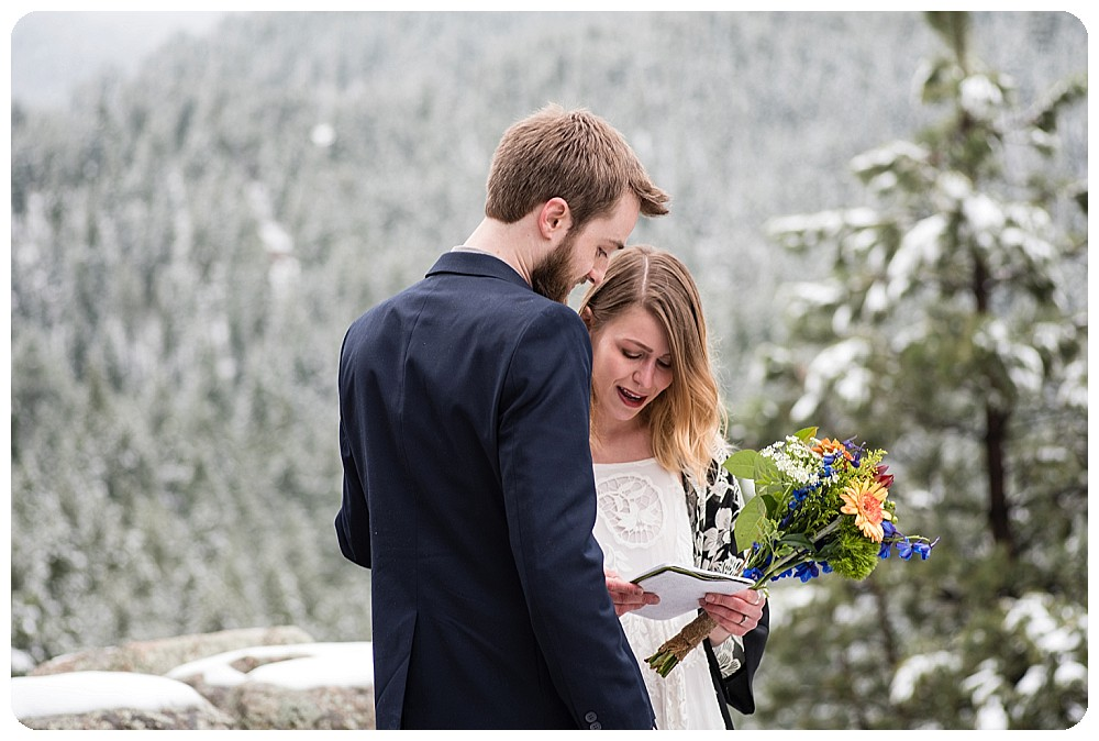 Colorado Elopement Ceremony in Boulder, Colorado