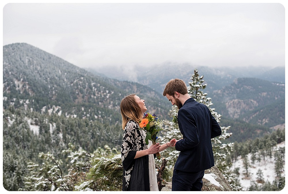 Emotional Elopement Ceremony in Boulder, Colorado