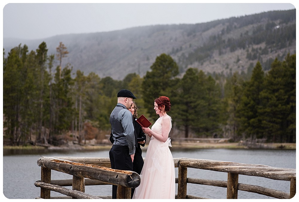Sprague Lake Elopement Ceremony