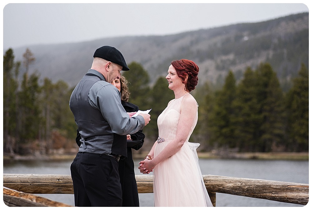 Wedding Ceremony at Sprague Lake