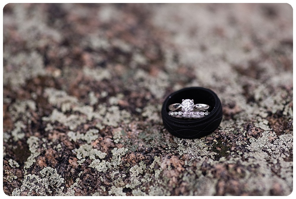 Wedding bands at Sprague Lake Elopement