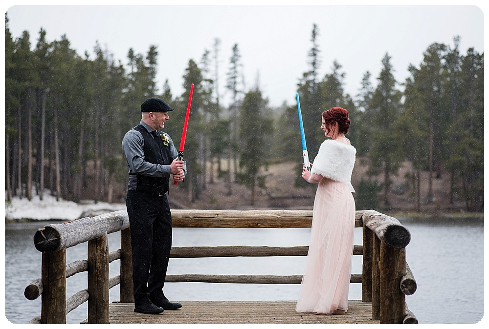 Star Wars battle at Sprague Lake