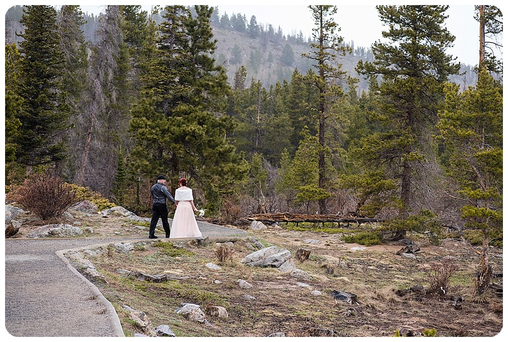 Sprague Lake Elopement in April