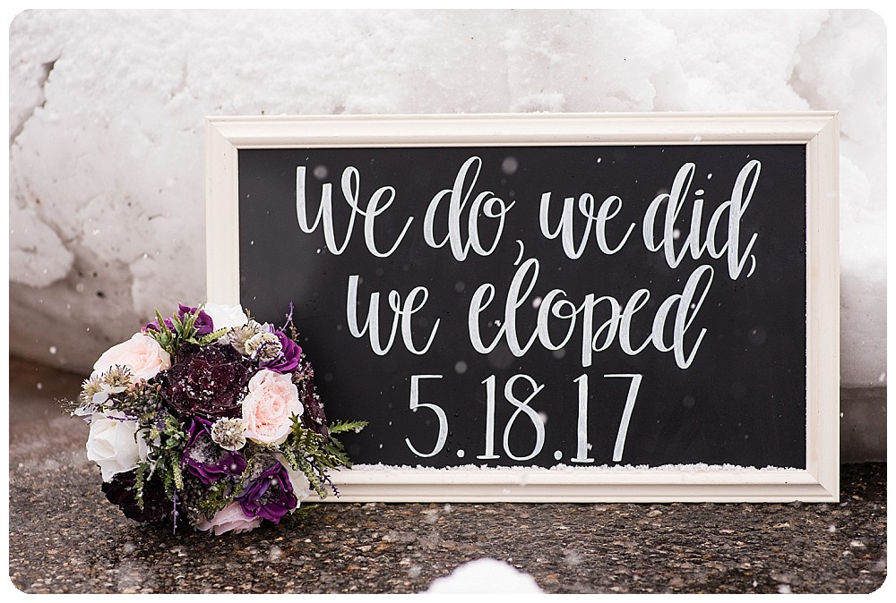 Elopement sign by Sweet Shabby Chalk