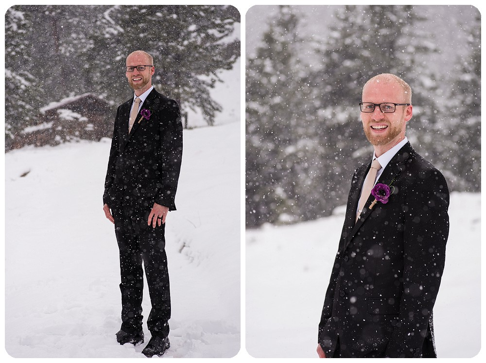 Groom photos at Boulder Elopement