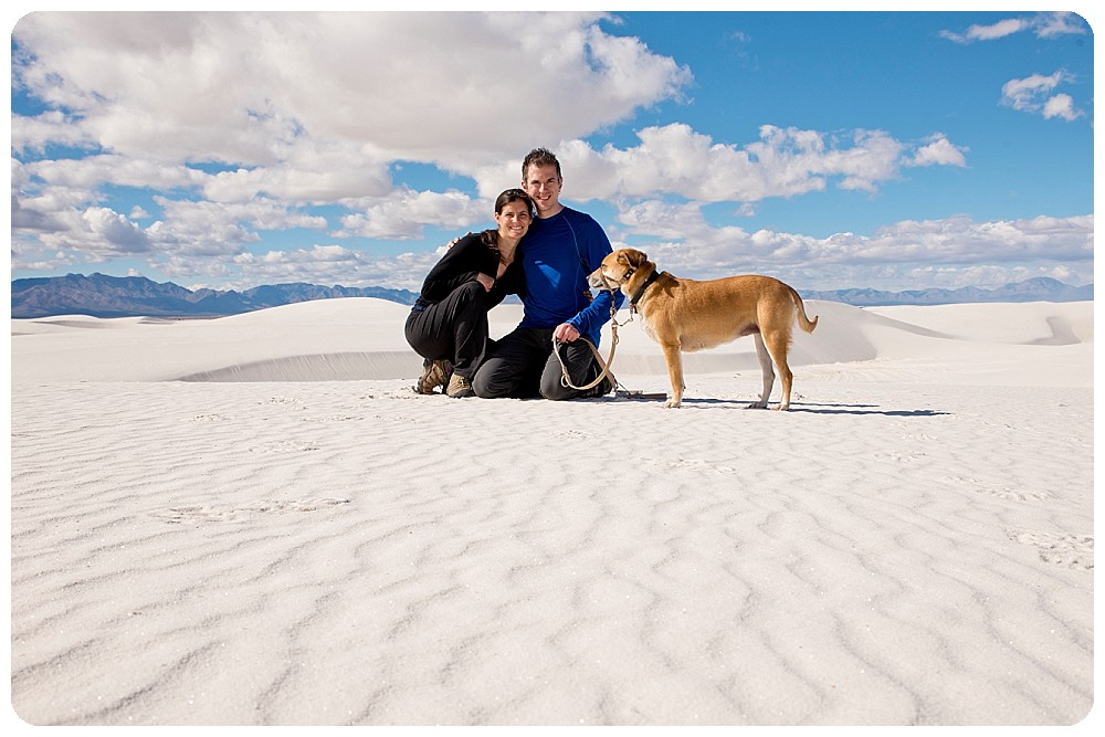 New Mexico Elopement Photographer and Family at White Sands