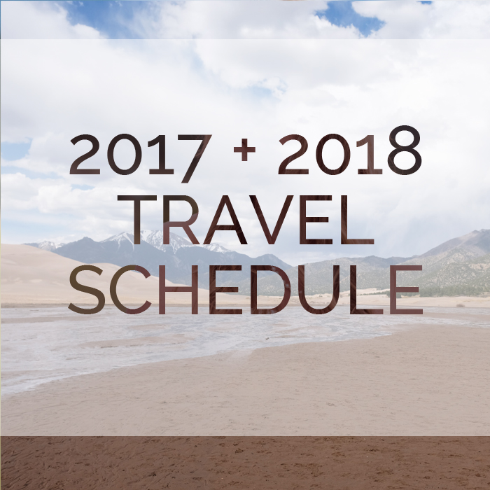 ADVENTURE ELOPEMENT PHOTOGRAPHY TRAVEL SCHEDULE