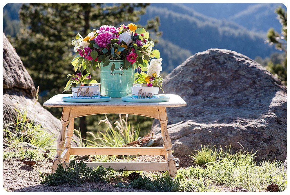 Tablescape for dog elopement