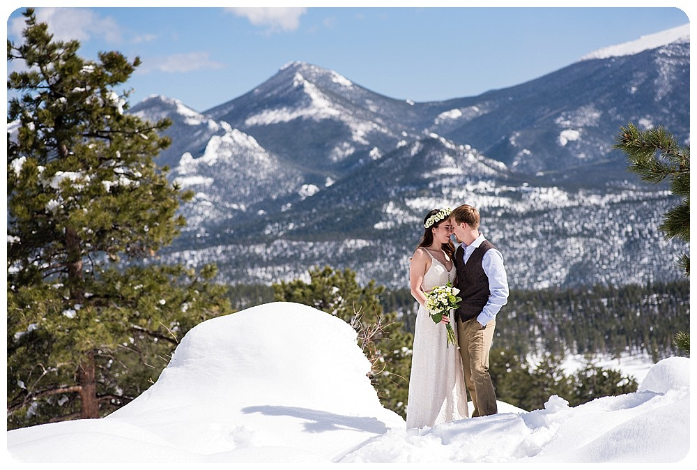 Destination Mountain Elopement with Bride and Groom
