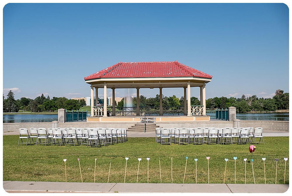 Ceremony site for City Park Pavilion Wedding