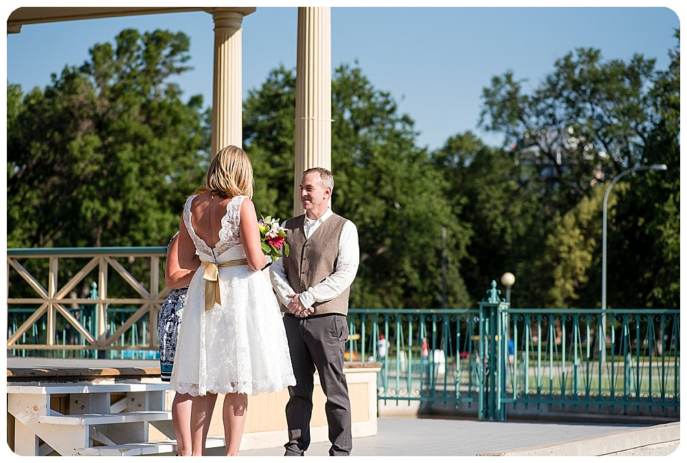 City Park Pavilion Wedding Ceremony