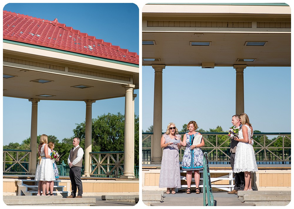 City Park Pavilion Wedding Ceremony in Denver, Colorado